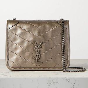 Mini Niki Metallic Leather Crossbody Bag